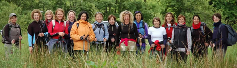 Ladies 3 Peaks Challenge Team near Glen Nevis Visitor Centre