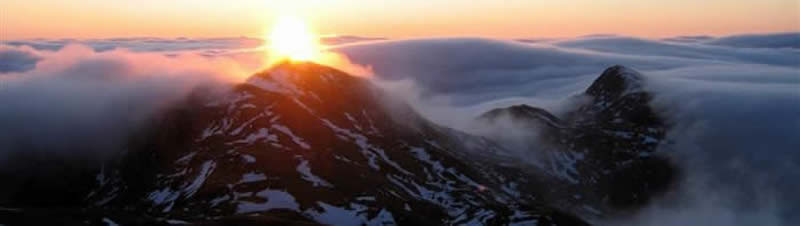 Meall Garbh inversion and sunset