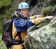 John Wady scrambling in the Lake District