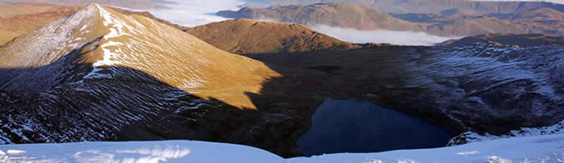 Red Tarn from Helvellyn summit