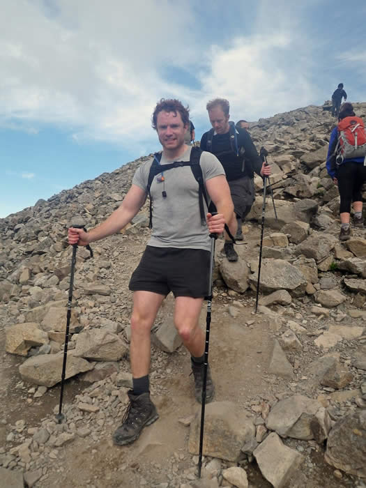 Heading down from Scafell Pike summit